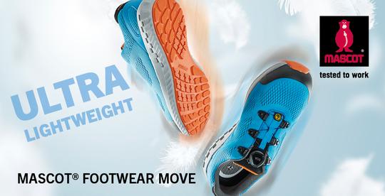ce59a5dc MASCOT® FOOTWEAR MOVE er en helt ny serie af sikkerhedssko og -støvler, der  med en super lav vægt, moderne design samt en innovativ mellemsål adskiller  sig ...