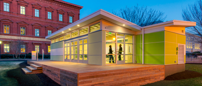 Sprout Space – modulopbyggede klasseværelser med tekstilbaseret ventilation